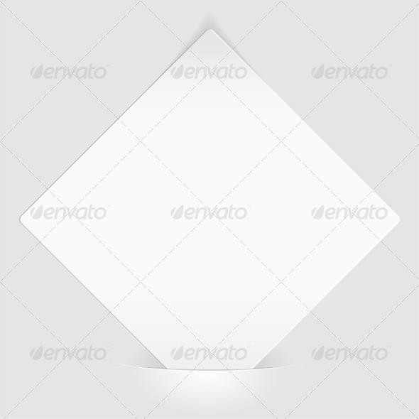 Sheet of white paper mounted in pocket - Concepts Business