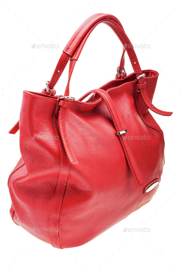 5d694a2590a00 Red womens bag isolated on white background. Stock Photo by Stramyk