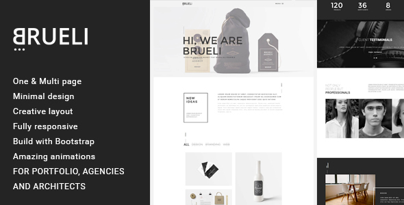 Brueli – Minimal Portfolio / Agency / Architect Template