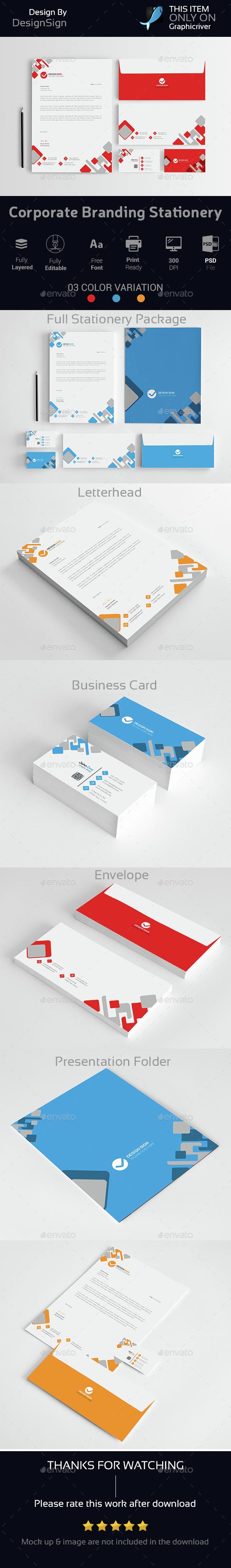 Corporate Branding Stationery Vol-03 - Stationery Print Templates