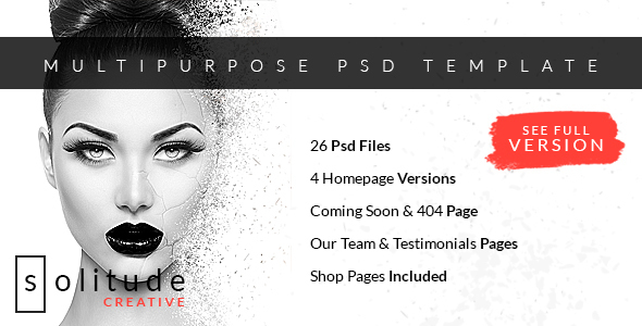 Solitude - Multipurpose PSD Template - Creative PSD Templates