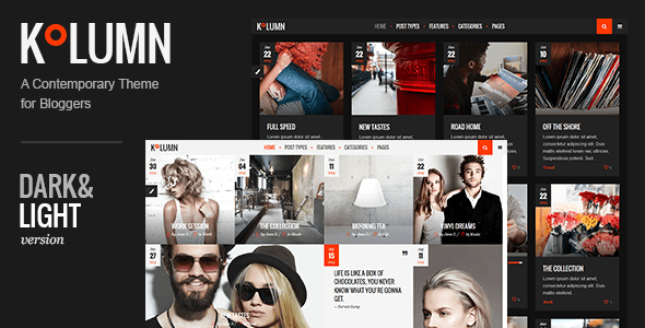 Kolumn – A Contemporary Theme for Bloggers