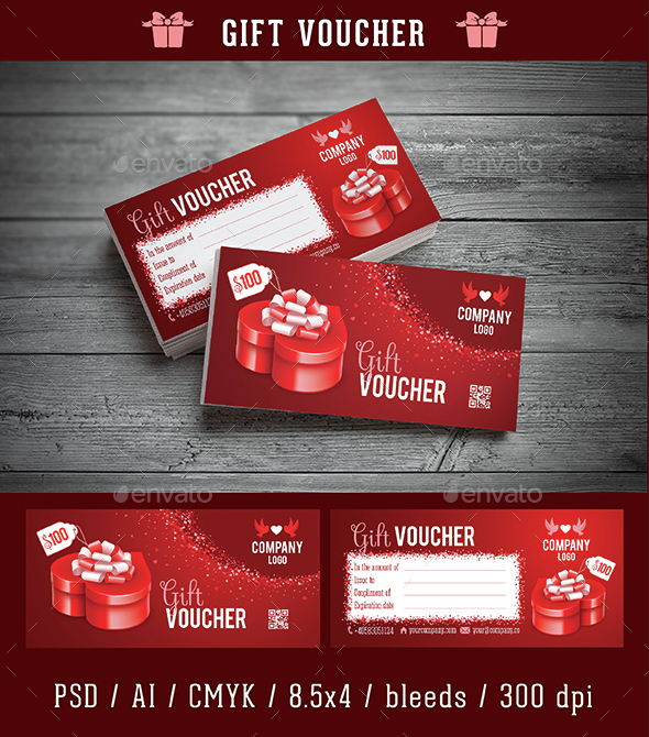 Gift Voucher Template - Cards & Invites Print Templates