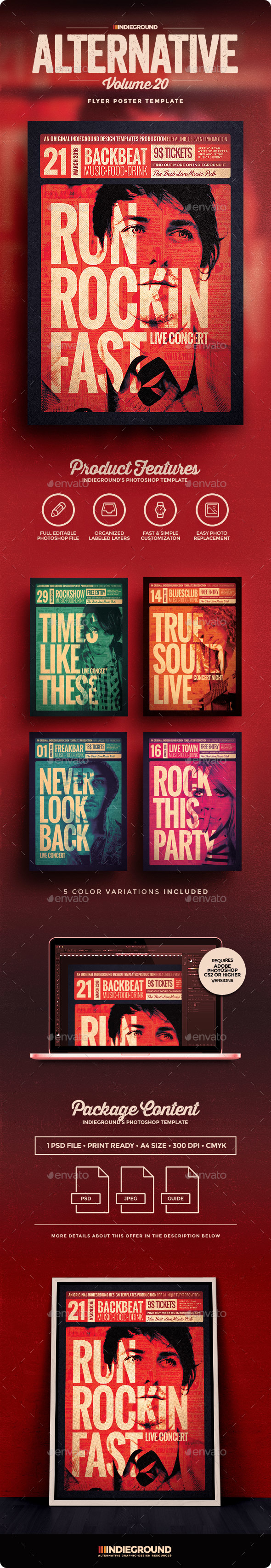 Alternative Flyer/Poster Vol. 20 - Events Flyers