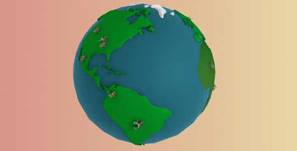 cartoon World Model - 3DOcean Item for Sale