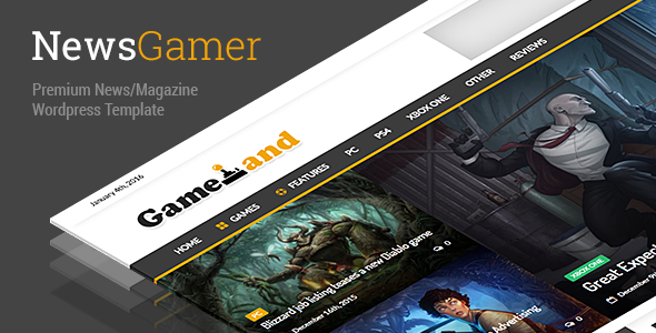 NewsGamer – WordPress News / Gaming / Magazine Theme