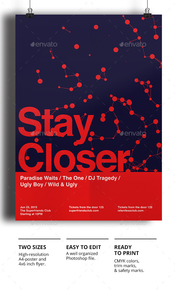 Stay Closer - Events Flyers