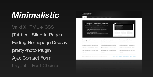 Free Download Minimalistic - Portfolio & Business Nulled Latest Version