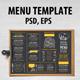 Menu Restaurant Template - GraphicRiver Item for Sale
