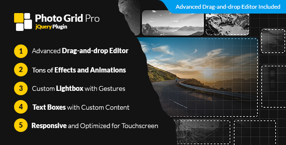 Photo Grid Pro - jQuery Interactive Grid Gallery Builder - CodeCanyon Item for Sale