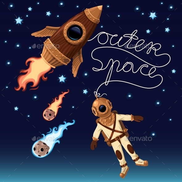 Outer Space Background - Backgrounds Decorative