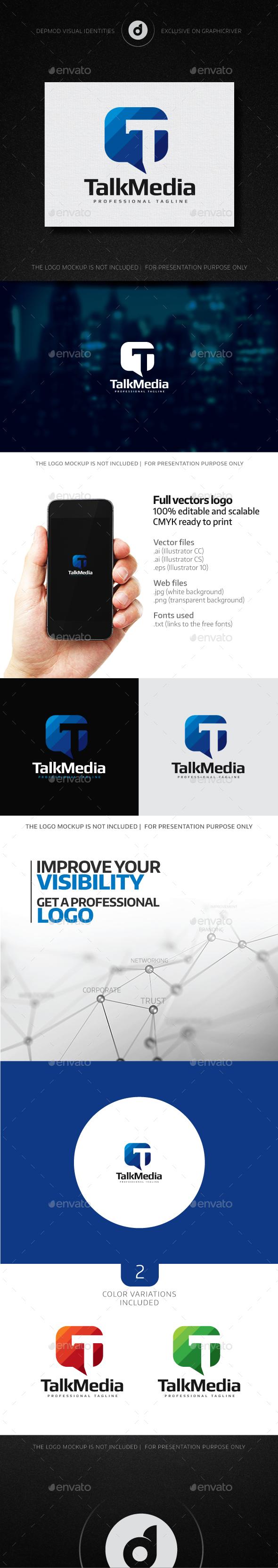 TalkMedia - Letters Logo Templates