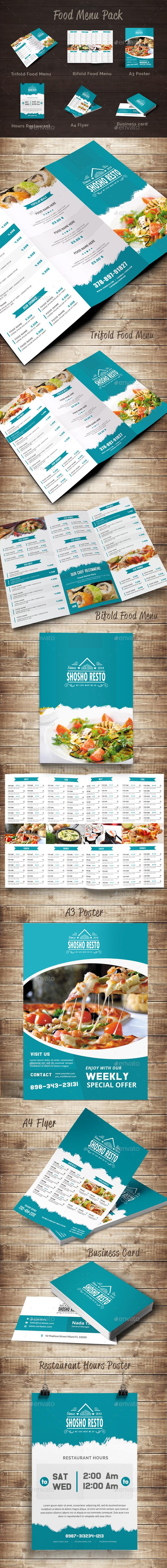 Food Menu Pack 11 - Food Menus Print Templates