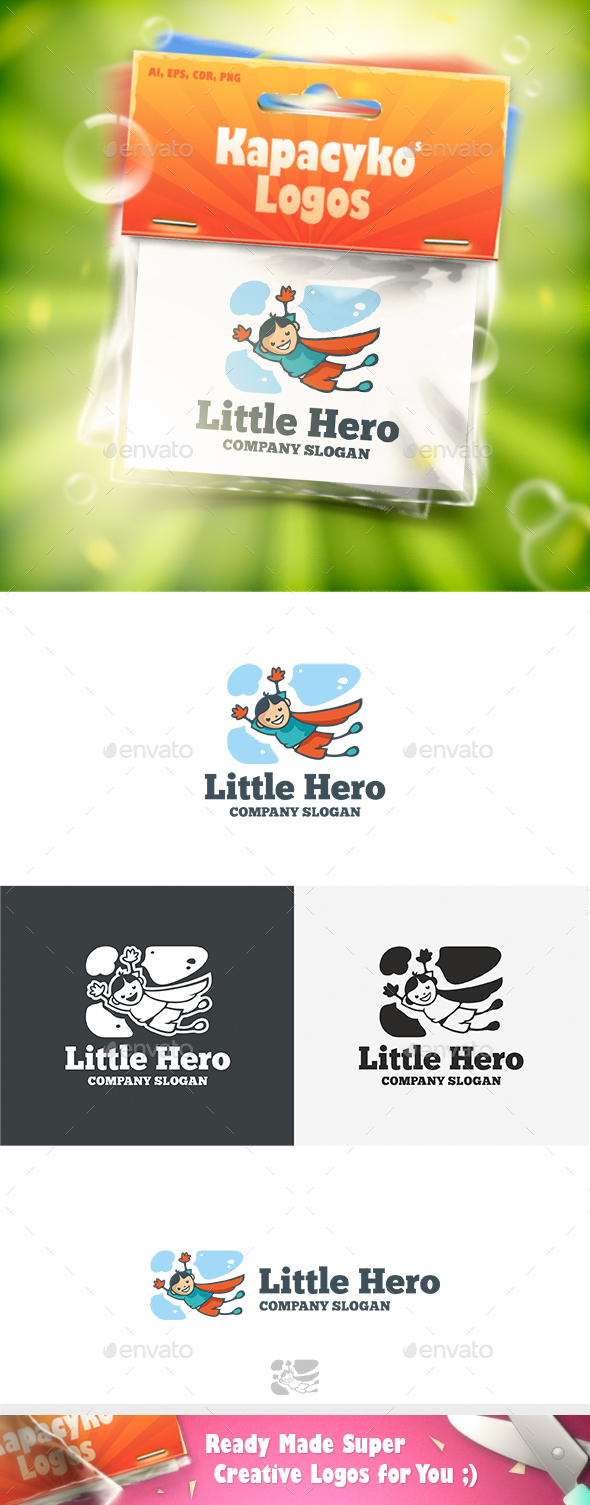 Little Hero Logo - Humans Logo Templates