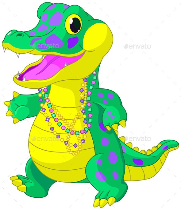 Mardi Gras Alligator  - Animals Characters