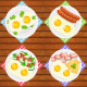 Breakfasts Set 6 Types of Breakfast Food - GraphicRiver Item for Sale