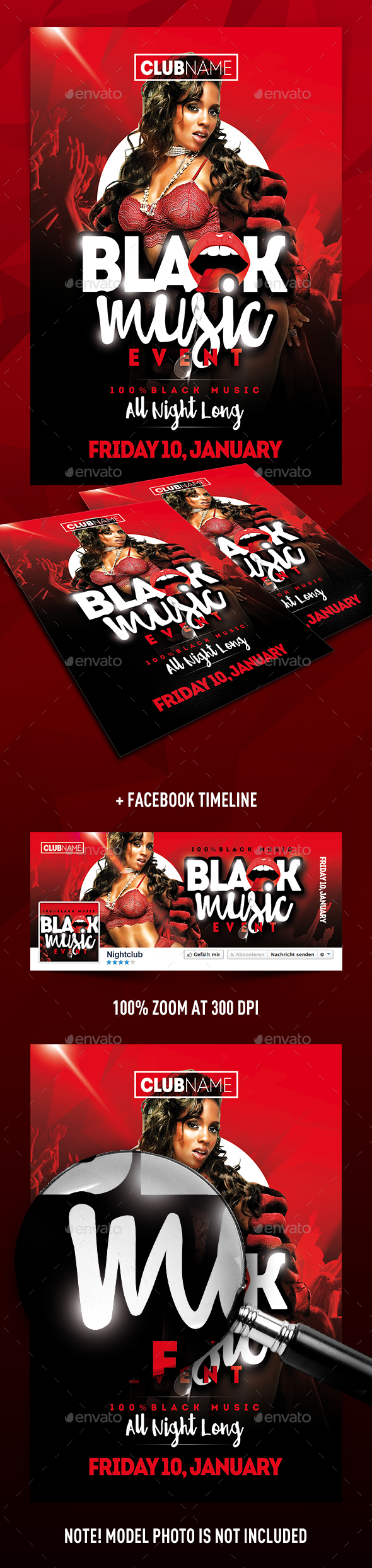 Black Music Event Flyer - Clubs & Parties Events