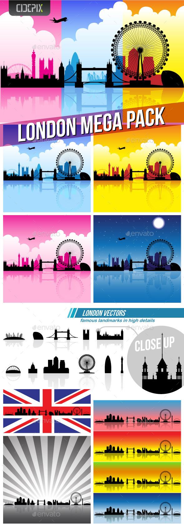 London Mega Pack - Miscellaneous Vectors