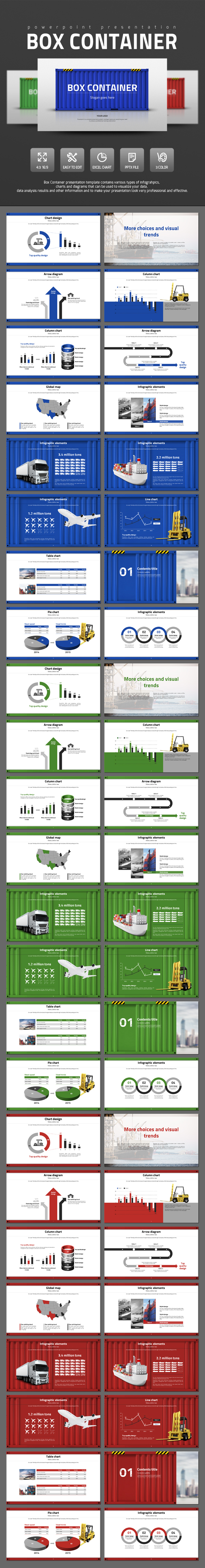 Box Container - Business PowerPoint Templates