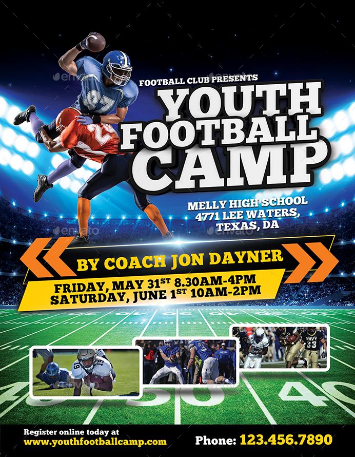 football camp flyer template