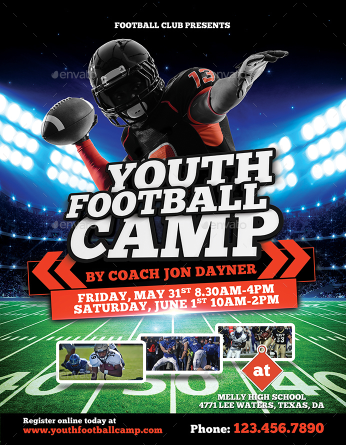 Football Camp Flyer By Inddesigner  Graphicriver