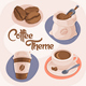 4 Coffee Theme Icons - GraphicRiver Item for Sale