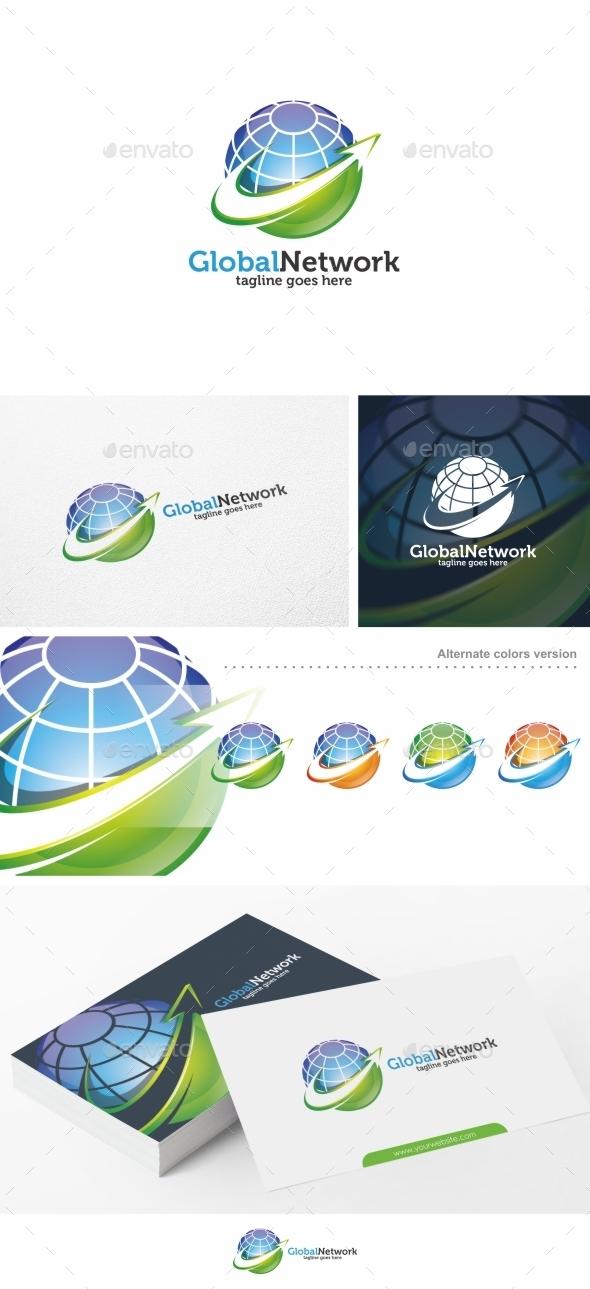 Global Network / Globe - Logo Template - Symbols Logo Templates