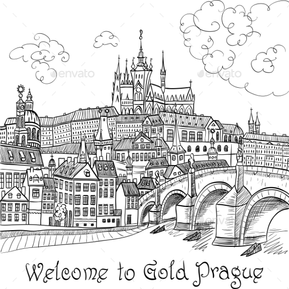 Prague Castle And Charles Bridge - Buildings Objects