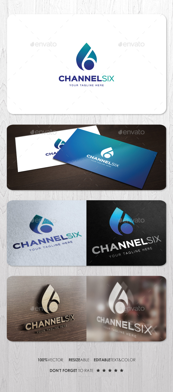 Channel Six Logo - Numbers Logo Templates