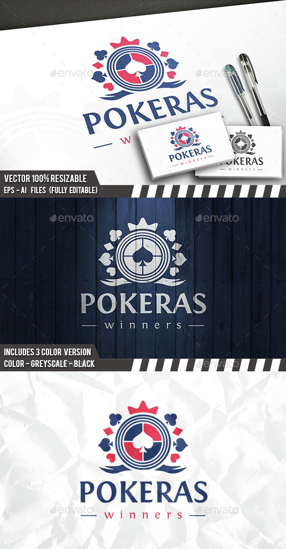Poker Logo Template - Crests Logo Templates