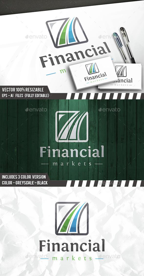 Financial Logo - Vector Abstract