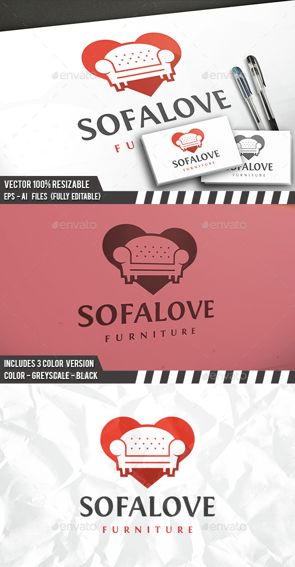Couch Love Logo - Objects Logo Templates