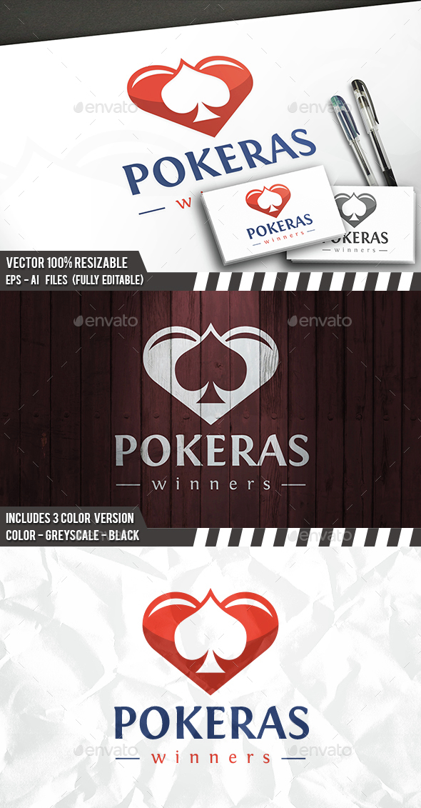 Poker Love Logo - Symbols Logo Templates