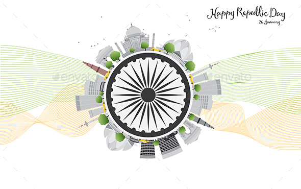 Happy Indian Republic Day Celebration. - Buildings Objects