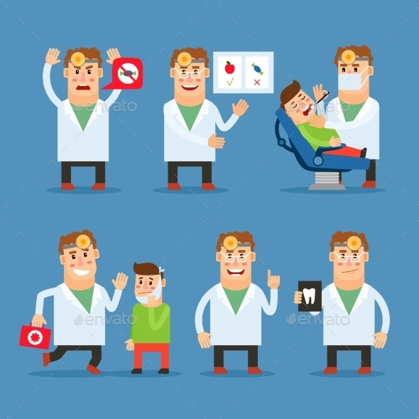 Dentist Doctor Vector Character - Health/Medicine Conceptual