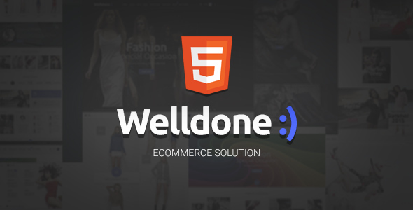 Welldone - HTML eCommerce theme - Retail Site Templates