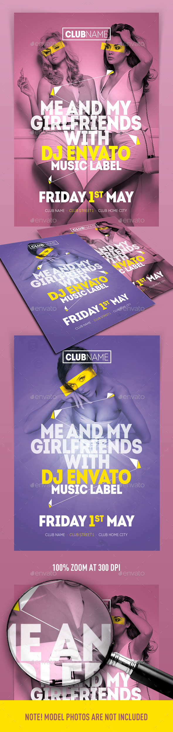 Me And My Girlfriends Flyer - Clubs & Parties Events