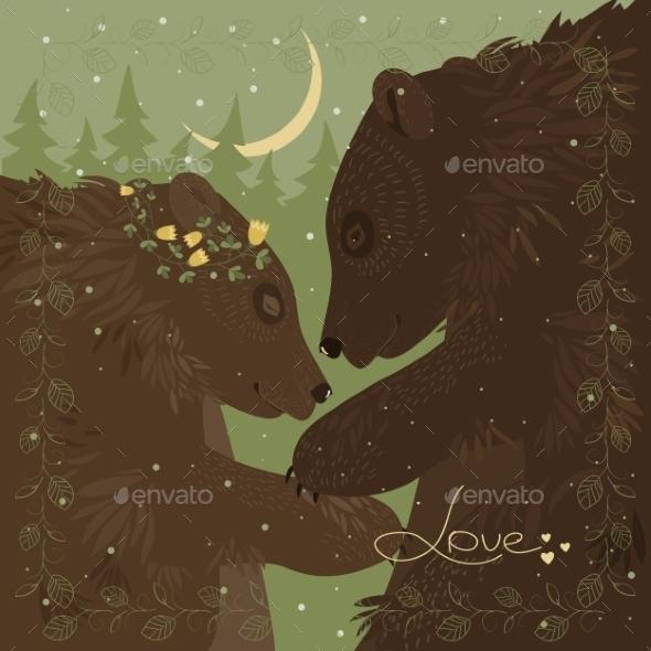 Couple Of Hugging Bears  - Valentines Seasons/Holidays