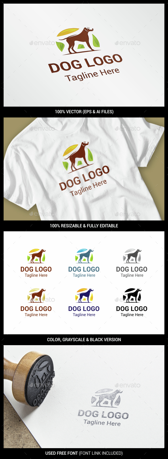 Dog - Animals Logo Templates