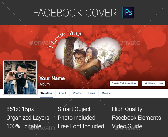 Facebook Cover - Valentines Day - Facebook Timeline Covers Social Media