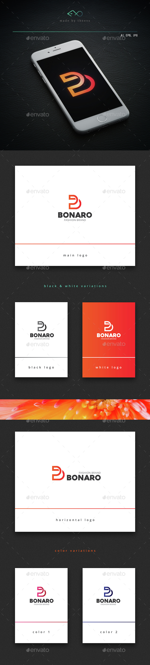 Bonaro - Letters Logo Templates