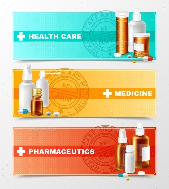 Medicines Banners Set - Health/Medicine Conceptual