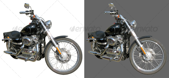 Classic Custom Motorcycle - Industrial & Science Isolated Objects