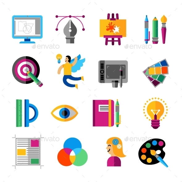 Creative Designer Icons Set - Technology Icons