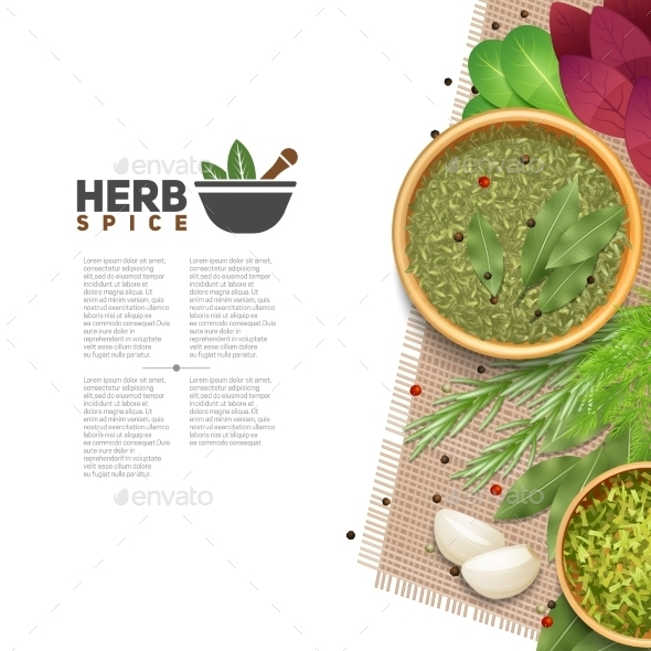 Herbs Spices Food Seasoning Information Poster - Food Objects