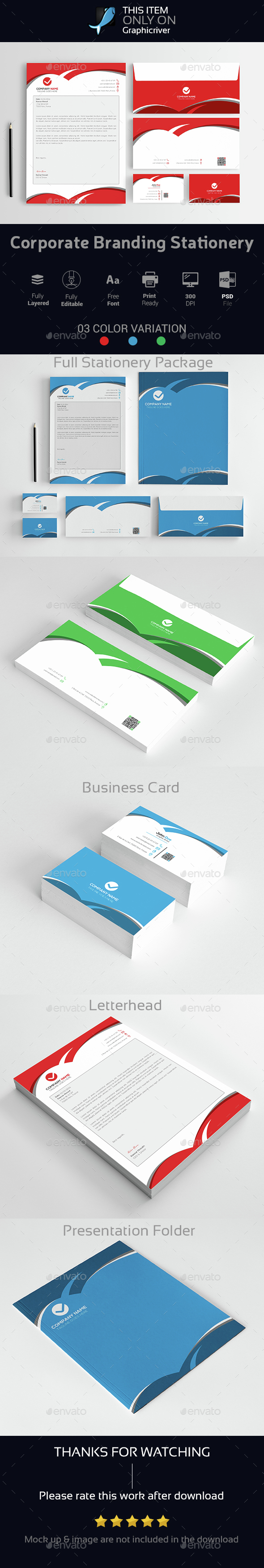 Corporate Branding Stationery Vol-08 - Stationery Print Templates