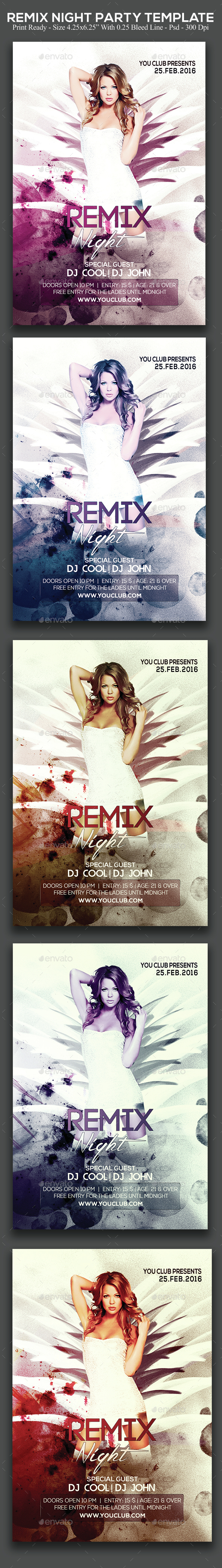 Remix Night Party - Clubs & Parties Events
