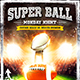 American Football Super Ball Flyer vol.2 - GraphicRiver Item for Sale