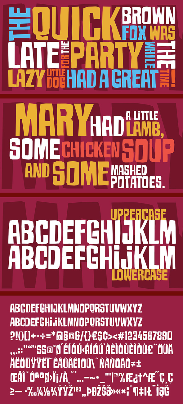 Armageda Typeface - Comic Decorative