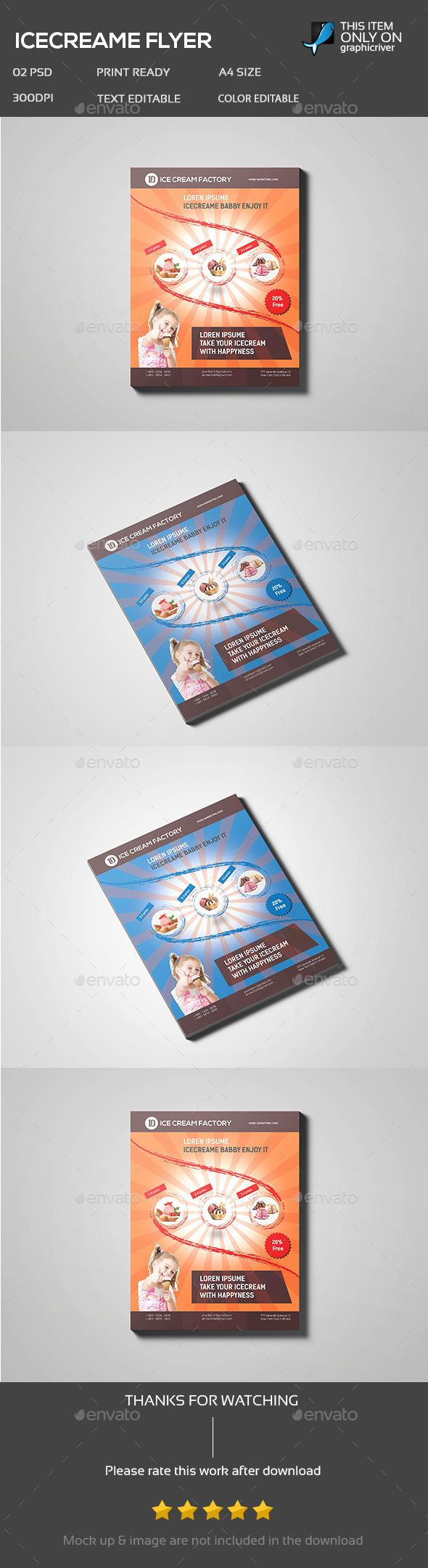 Ice Cream Flyer - Flyers Print Templates